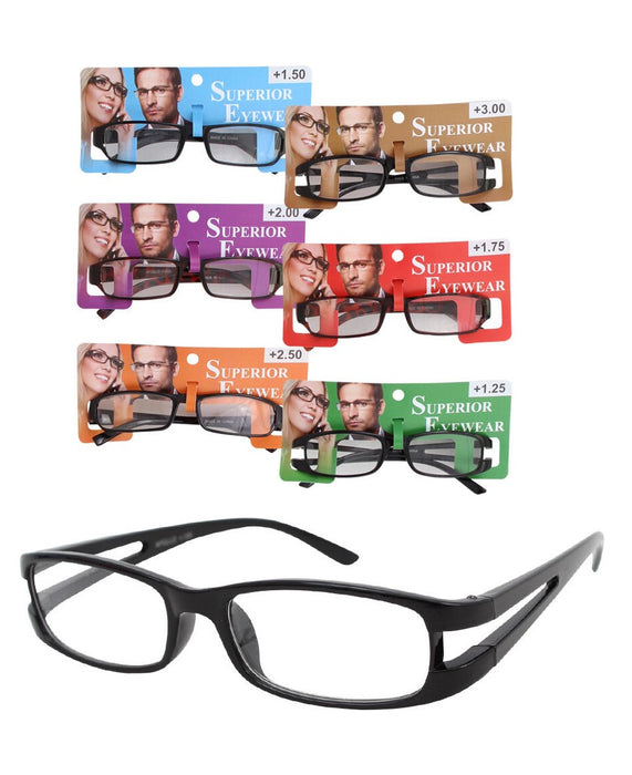READING GLASSES PLASTIC FRAME