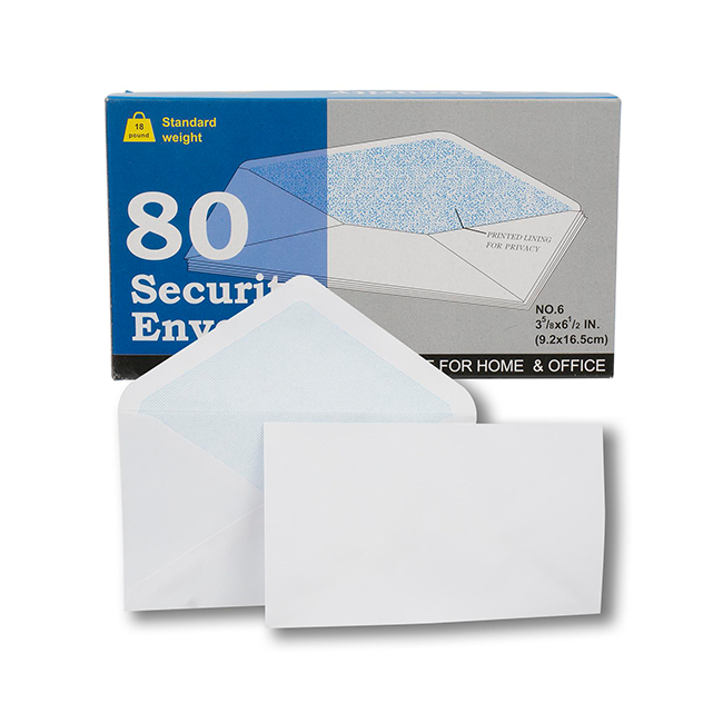 Security Envelope, 80ct No.6