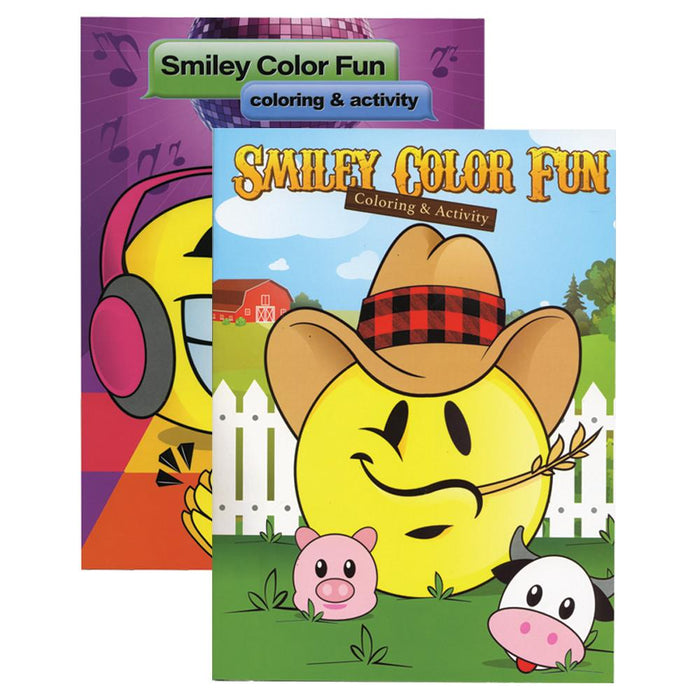 Smiley Color Fun Coloring & Activity Books #2158
