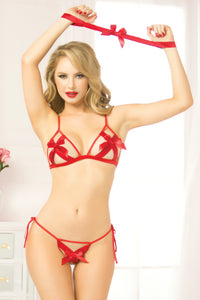 Stretch Satin Bra Set