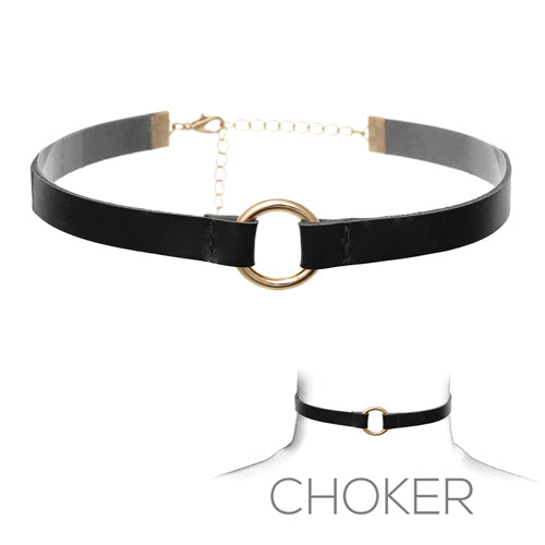 Choker With Gold Ring