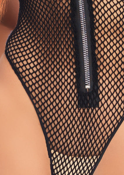 Fishnet Zipper Teddy