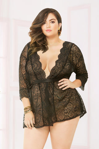 Sheer Lace Robe- Queen Size