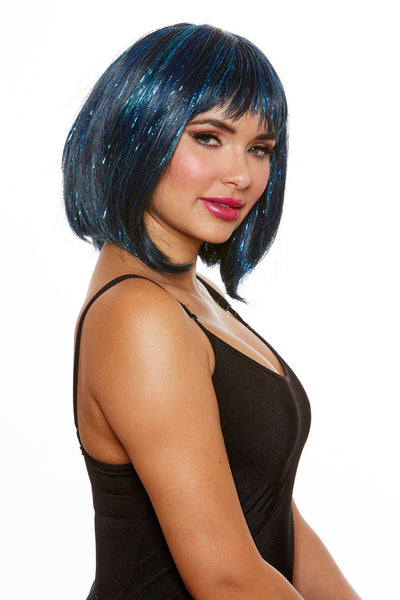 Medium Length Bob with Tinsel Wig