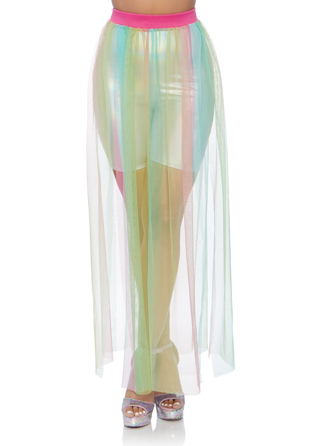 Multi Slit Sheer Skirt