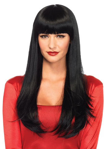 Long Straight Wig- Black