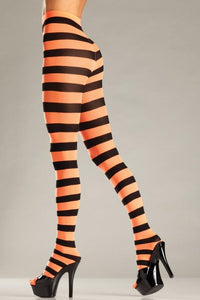 Wide Stripes Opaque Tights