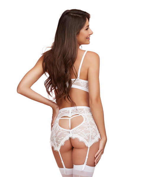 3 Piece White Lace Set