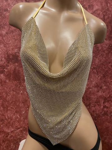 Rhinestone Top V-Shape