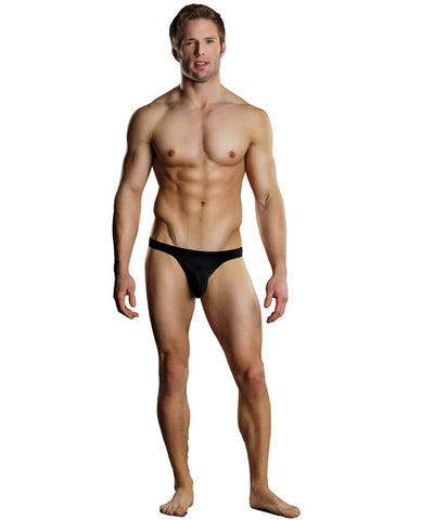 Nylon Spandex Bong Thong- Black