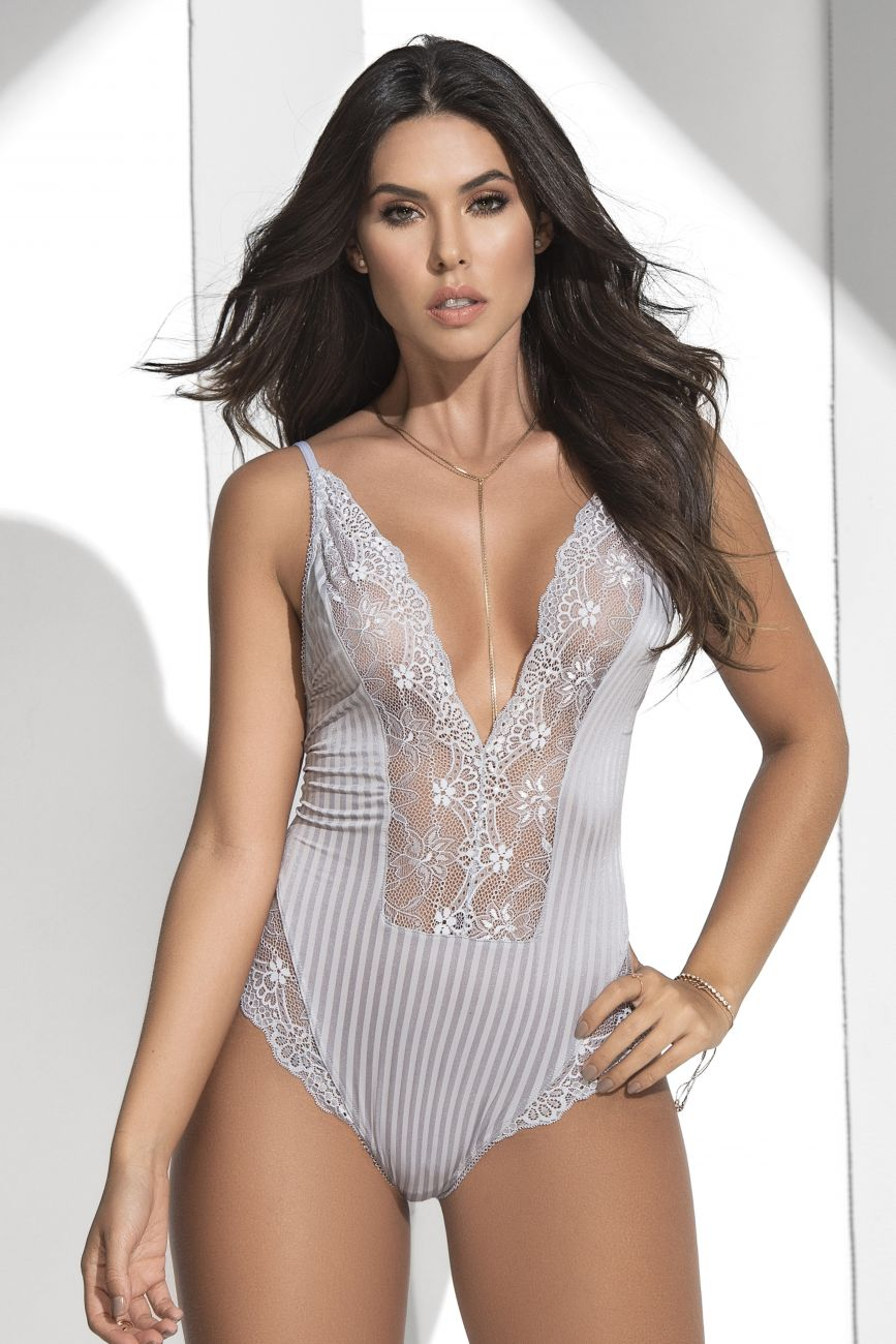 Lace Teddy- Grey