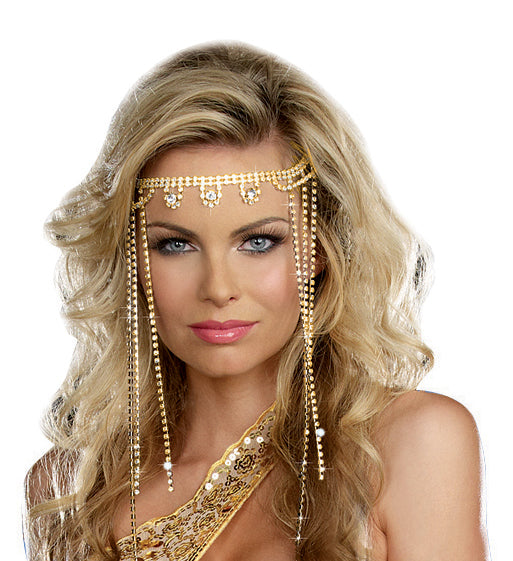 Shimmer Rhinestone Headpiece- Gold/Crystal