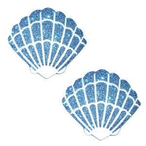 Blue Glitter Mermaid Shell Pasties