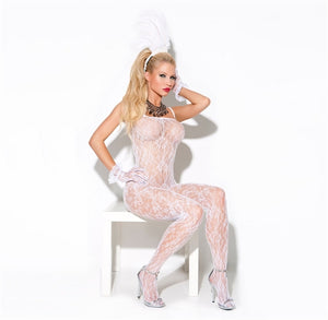 White Lace Bodystocking