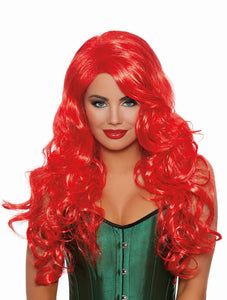 Long Wavy Layered Wig- Red
