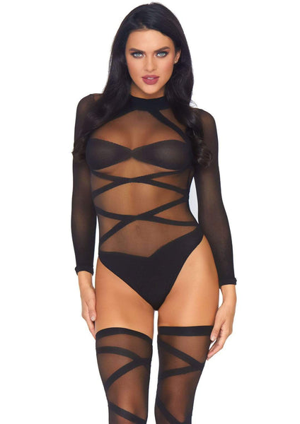 Criss Cross Teddy and Thigh Highs