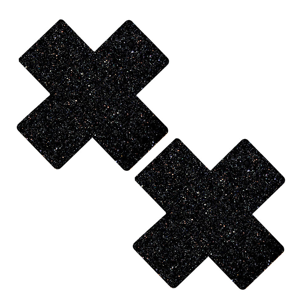 Black Glitter X Factor Nipztix Pasties