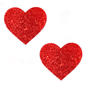 Ravish Me Red Glitter I Heart U Nipztix Pasties