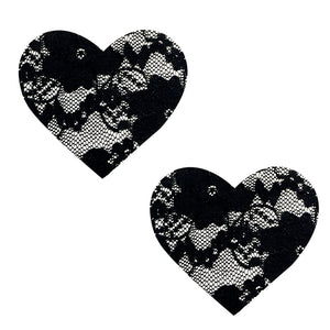 Vogue Black Lace I Heart U Nipztix Pasties