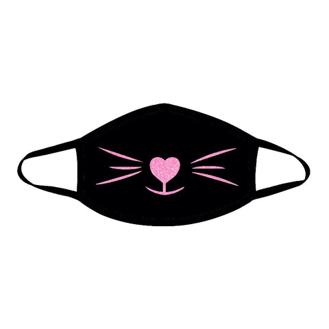 Meow Pink Glitter Face Mask