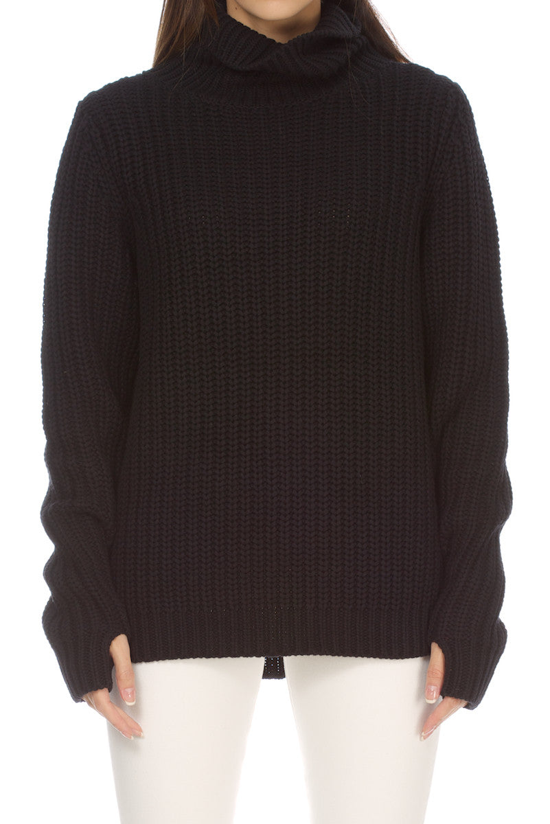 Mia- Sweater Turtleneck Black
