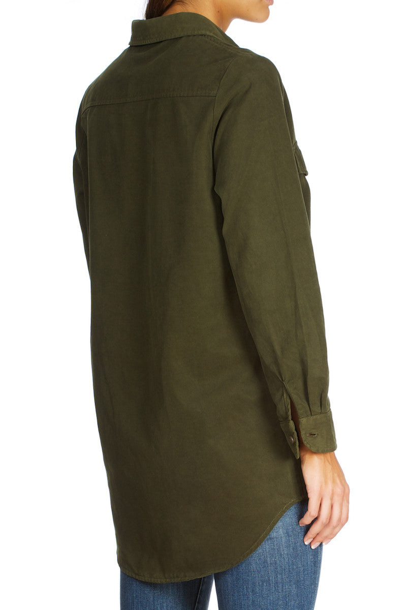 Dorothy-Tencel Shirt Army green