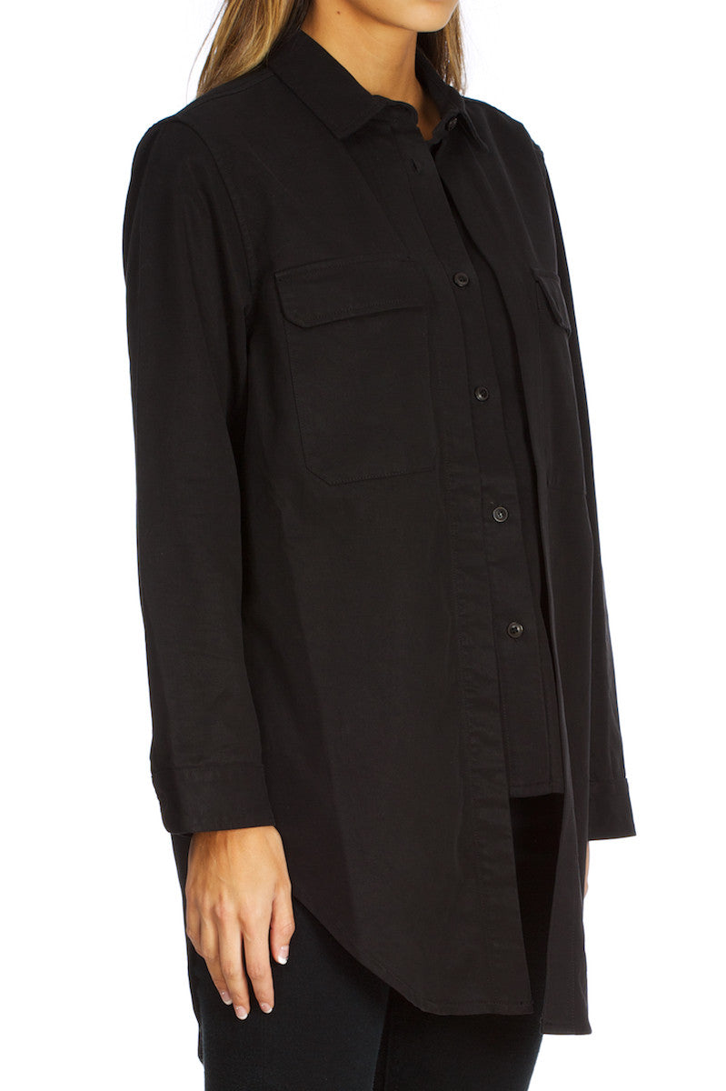 Beth-Double Shirt black