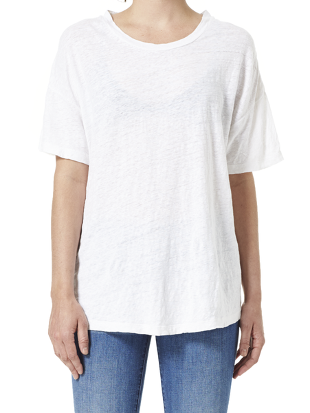 Julia Linen Tee White view 1