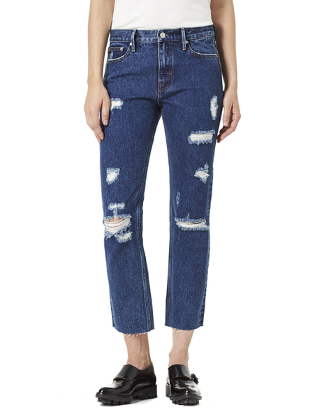 Victoria Cropped Jean Mid Blue view 1