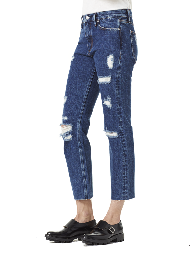 Victoria Cropped Jean Mid Blue view 2