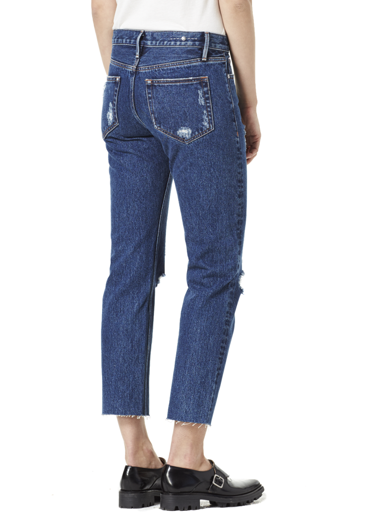 Victoria Cropped Jean Mid Blue view 3