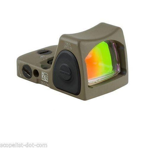 Trijicon RMR Adjustable Sight 3.25 MOA Red Dot (RM06-C) - FDE - RAMPART