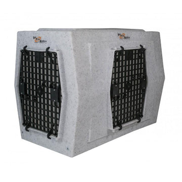Ruff Tough Kennels Large Double-Door Side Entry Dog Crate - RAMPART