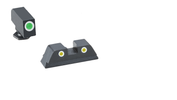 Ameriglo Provincial Police Spec Rear Sight - Yellow Tritium - RAMPART