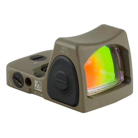 Trijicon RMR Sight Adjustable (LED) 6.5 MOA Red Dot (RM07-C) - FDE - RAMPART