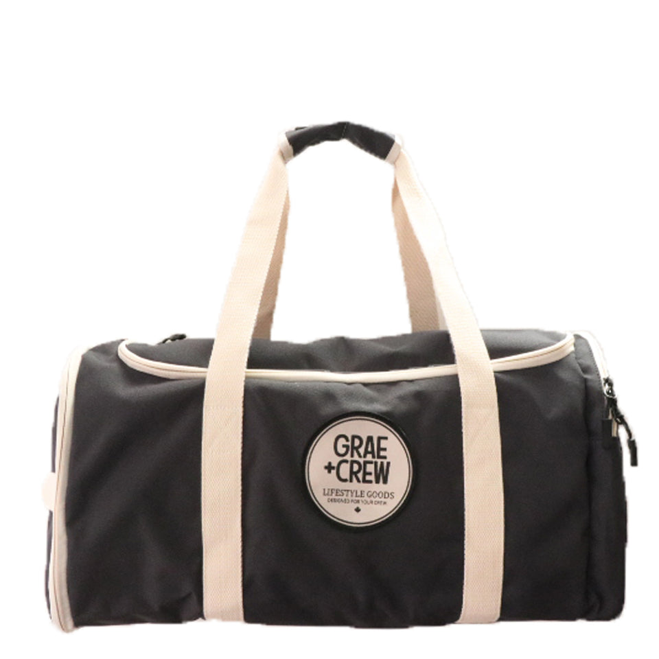 Black Grey Crew Duffel