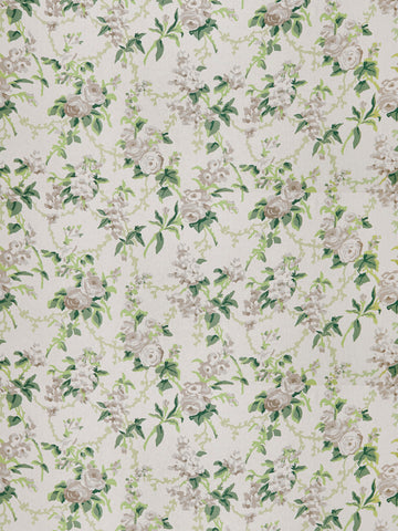 CHINTZ - GREEN  GREY
