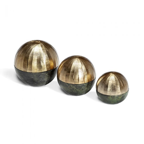 Faye Sphere Sculptures - Gold
