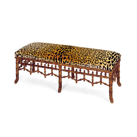 Double Bamboo Bench
