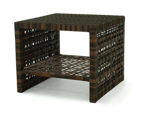 ASTOR End Table with Woven Top