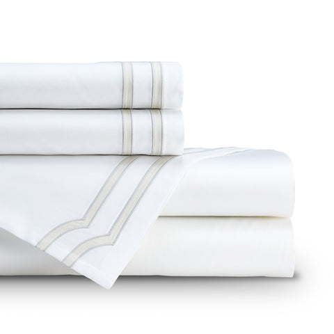 SOHO KING 300TC SHEET SET WHITE / OYSTER K SET