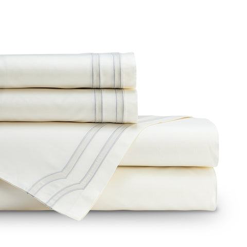 SOHO  QUEEN 300TC SHEET SET IVORY / OYSTER Q SET