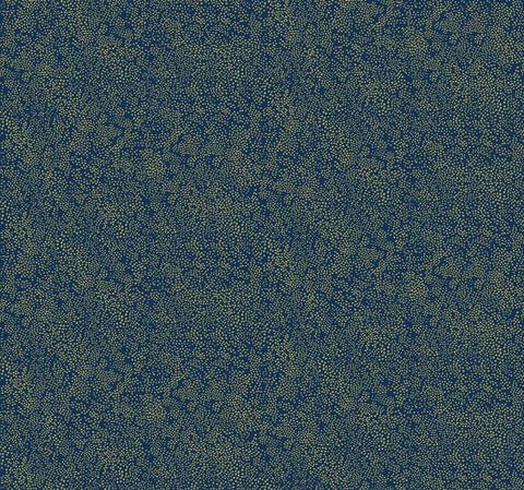 Champagne Dots Wallpaper - Gold/Navy