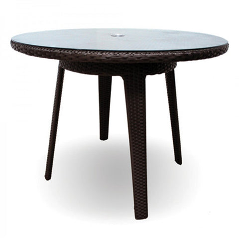 Senna Round Dining Table with Glass