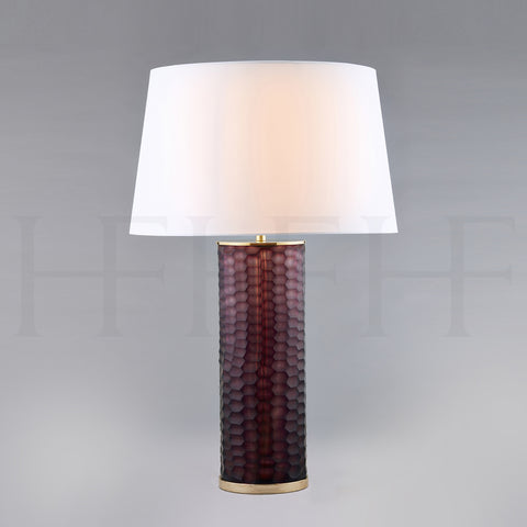 Amethyst Honeycomb Glass Table Lamp