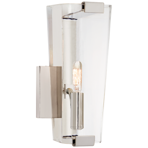 Alpine Small Single Sconce With Clear Glass