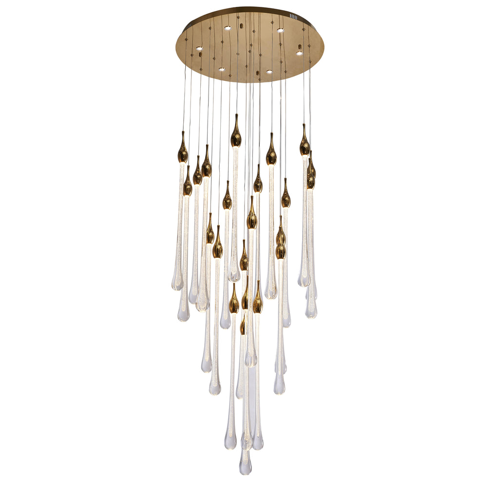 LED Glass Drops Chandelier