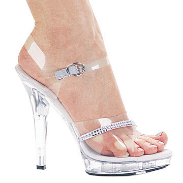 Ellie M-Jewel 5 inch clear posing heel