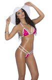 82037 Elegant Moments strappy pink polka dot g-string bikini