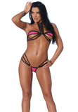82174 bikini top and matching g-string with black trim by Elegant Moments